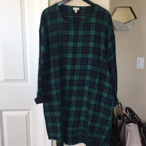 Urban Outfitters oversized flannel dress